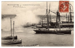 BELLE ILE EN MER (56) - La Jetée De Palais Par Gros Temps - Ed. Coll. Petitjean, Belle Ile En Mer - Belle Ile En Mer