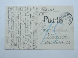1917 , BARNTRUP , Karte Mit Nachporto - Duitsland