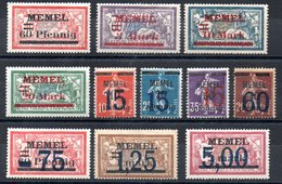 Memel Y&T 34* - 44* - Memel (1920-1924)