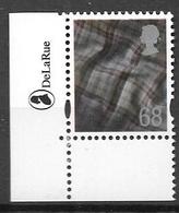 SCOTLAND TARTAN 2003  68p - Single With De La Rue  LOGO - Escocia