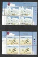 NAMIBIA 1999, Gliders, Control Blocks Of 4 - Namibia (1990- ...)
