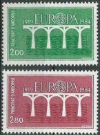 FRANZ. ANDORRA 1984 Mi-Nr. 350/51 ** MNH - CEPT - Europa-CEPT