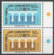 TÜRK. ZYPERN  1984 Mi-Nr. 142/43 ** MNH - CEPT - Europa-CEPT