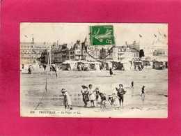 14 Calvados, Trouville, La Plage, Animée, Enfants, 1912, (L. L.) - Trouville