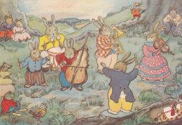 Margaret Ross The Evening Concert Rabbit Orchestra Postcard - Contes, Fables & Légendes