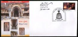 India 2018 Bhaja Caves Buddhist Centre Sculptur Architecture Special Cover # 6966 - Buddhism