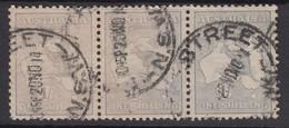Australia 1913 1/- Roo Strip Of 3 - Gebraucht