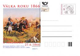 Rep. Ceca / Cart. Postali (Pre2016/25) Guerra Del 1866 (2) Battaglia Di Nachod - Pittore: Richard Knötel (1857-1914) - Interi Postali