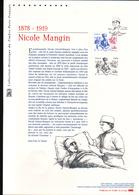 2015, DOCUMENT OFFICIEL DE LA POSTE: Nicole Gerard-Mangin, 1878 1919 - Documents Of Postal Services