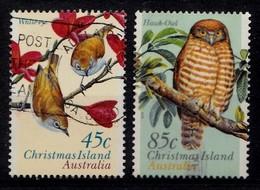 Christmas Island 1996 Mi.nr.:421-422 Einheimische Vögel  Oblitérés / Used / Gestempeld - Christmas Island