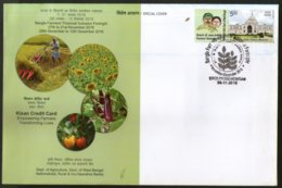 India 2018 KCC Kisan Credit Card Farmer Agriculture My Stamp Special Cover # 19114 - Agriculture