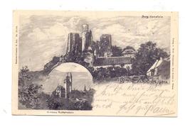 0-5631 BORNHAGEN / Eichsfeld, Burg Hanstein, Schloss Rothenstein, Künstler-Karte 1902 - Heiligenstadt