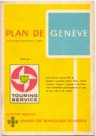 Brochure Map Carte Toerisme Tourisme - Plan De Genève - Suisse - Ca 1960 - Non Classés