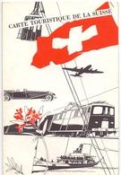 Brochure Map Carte Toerisme Tourisme - Carte Touristique De La Suisse - 1956 - Cartes