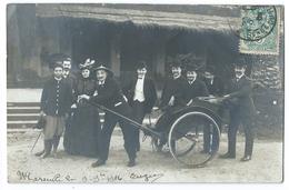 MARSEILLE (13) Exposition Coloniale 1906 - Superbe Carte Photo - Gros Plan Sur Un Groupe Avec Un Pousse-pousse Annamite - Expositions Coloniales 1906 - 1922