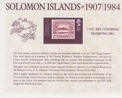 Solomon Islands 1984 UPU Congress Hamburg M/s ** Mnh (40836) - Solomoneilanden (1978-...)