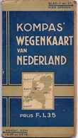 Brochure Map Carte Toerisme Tourisme - Kompas Wegenkaart Van Nederland - Non Classés