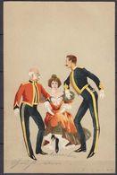 AK Litho Tanz Tänzer Jugendstil 1899 Gelaufen Osnabrück - Lingen (11398 - Femmes
