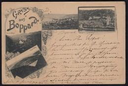 AK Sehr Frühe Alte Ansichtskarte Boppard  1891 Nach Berlin   (17160 - Germany