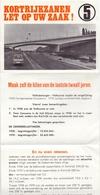 Brochure Politiek Verkiezingen Kortrijk Lijst 5 - 1970 - Announcements