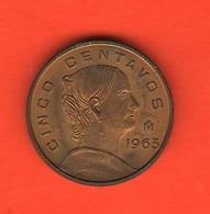 Messico 5 Centavos 1963 Mexico - Messico
