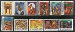 India 2018 Ramayana Of ASEAN Countries Hindu Mythology Religion Set Of 11 V MNH - Hinduism