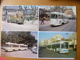 SAINT ETIENNE (42)  : Motrice TRAMWAY TYPE H, P.C.C. 1 Caisse Et Articulée, Vevey-Alstom - Lot De 4 CPM - Voir 2 Scans - Tramways