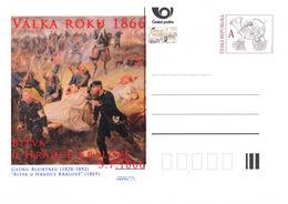 Rep. Ceca / Cart. Postali (Pre2016/26) Guerra Del 1866 (3) Battaglia Di Königgrätz - Pittore: George Bleibtreu (1828-92) - Interi Postali