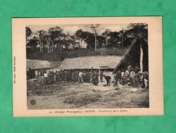 Afrique Congo Français Republique Centrafricaine Banghi Bangui Distribution De La Corvée - Zentralafrik. Republik