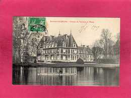 61 Orne, Environs D'Alençon, Château De Vervaine Et L'Etang, Animée, Canoë, 1909, (Pro-d'Homme-Radiguey) - Alencon