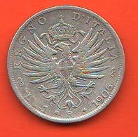 Italia 1 Lira 1906 Aquila Araldica - 1861-1946: Königreich