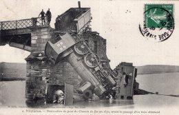 """585 - Cpa 08  Mézières - Destruction Du Pont Du Chemin De Fer En 1871 """" Train """" - France"""