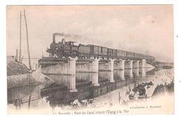 La Nouvelle  (11 - Aude) Le Pont Du Canal Reliant L'Etang à La Mer - Train - Port La Nouvelle