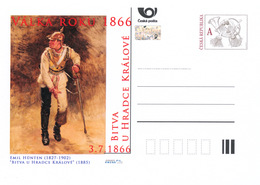Rep. Ceca / Cart. Postali (Pre2016/27) Guerra Del 1866 (4) Battaglia Di Königgrätz - Pittore: Emil Hünten (1827-1902) - Interi Postali