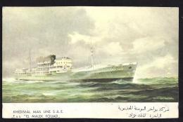 CPA  Khedivial Mail Line SAE El Malek Fouad - Paquebots