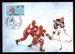 Allemagne - Carte Maximum 1983 - Sport - Le Hockey Sur Glace - [5] Berlijn