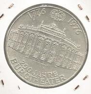 Monnaie, AUTRICHE , Republik OSTERREICH , 100 Schilling , 200 Jahre Burgtheater 1976, 2 Scans, Frais Fr 2.95 E - Oesterreich