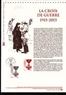 2015, DOCUMENT OFFICIEL DE LA POSTE: La Croix De Guerre, 1915 2015 - Documents Of Postal Services