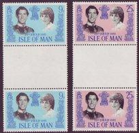 Isle Of Man 1981 Prince Charles And  Princess Diana Royal Wedding Gutter Pairs SG 202-203 - UM/MNH - IOM - Isle Of Man