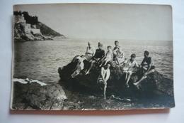 BEACH, REAL PHOTO - Swimsuit Girl Portrait, Maillot Du Bain Fille Sur La Plage - Vintage Original Snapshot - Pin-Ups