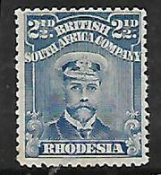 Rhodesia,/ B.S.A.Co.,1913, Admiral, 2 1/2d, Die 1 Perf 14, MH * - Southern Rhodesia (...-1964)
