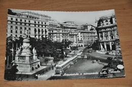 3488   GENOVA, PIAZZA ACQUAVERDE / BUS - 1954 - Genova (Genoa)