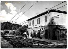 ITALY  . CPSM +/-1960  . NIELLA TANARO . Stazione Ferroviara . - Cuneo