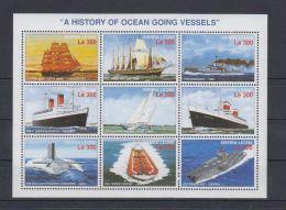 F555. Sierra Leone - MNH - Transport - Ships - Barcos
