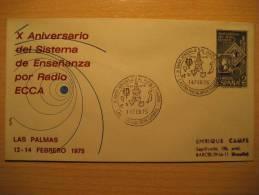 SPAIN Las Palmas Gran Canaria Canarias 1975 Radio Tv Television Funk Rundfunk Antenna Antenne Satellite Telegraph - Telecom