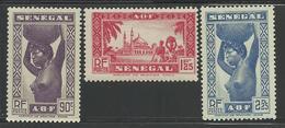 SENEGAL 1939 MAURY 165/167** SANS CHARNIERE NI TRACE - SERIE COMPLETE - Sénégal (1887-1944)