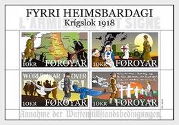 Faeroër / Faroes - Postfris / MNH - Sheet Einde WO I 2018 - Faeroër
