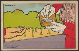 Ansichtskarte Jugendstil Künstler Handkoloriert Aumone Almosen  - Künstlerkarten