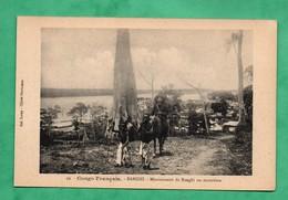 Afrique Congo Français Republique Centrafricaine Banghi Bangui Missionnaire En Excursion - Centrafricaine (République)