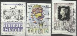 Italia 2015, Giornata Della Filatelia (o), Serie Completa - 6. 1946-.. Repubblica